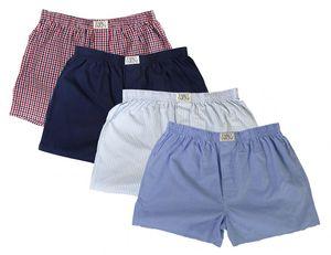 4 er Boxershorts Webboxer Herren Boxer Shorts Unterhose Unterwäsche Baumwolle, Größe:L, Setnummer:Set 1