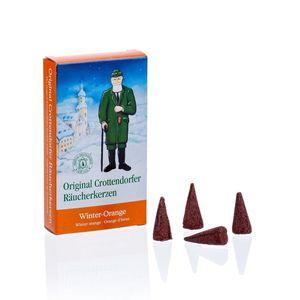 1 Packung Crottendorfer Räucherkegel Winter Orange mit 24 Kegeln