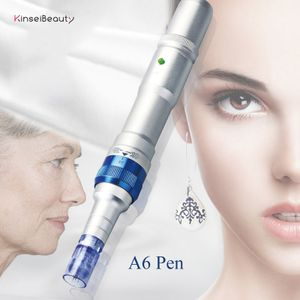 Derma Pen A6 Derma Pen Wiederaufladbare elektrische Mikronade , für Falten Dehnungsstreifen Akne-Narbe Haarausfall Behandlung, Derma Pen mit 2 Stück 12 Pins Micro Nadeln