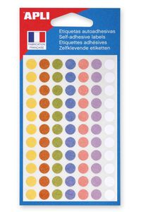 agipa Markierungspunkte Durchmesser: 8 mm rund farbig 385 Stück