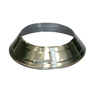 Ofenrohrrosetten vernickelt 120-135 mm