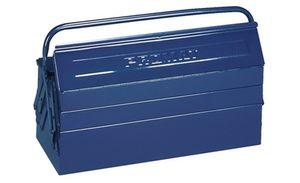 PROMAT Werkzeugkasten 3tlg. 530x200x150mm Stahlblech blau Griff umlegbar