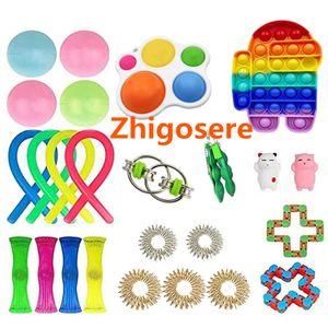 26 Stück / Set Pop It! Fidget Sensory Toy Autismus Stressabbau Spielzeug