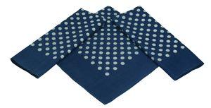 Betz 3er Pack XL Nickituch Bandana Halstuch Punktemuster Größe ca. 60 x 60 cm 100% Baumwolle Farbe - dunkelblau
