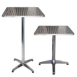 Wohaga Aluminium Bistrotisch Stehtisch 60x60x70/110cm