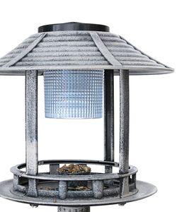 Vogeltränke Solar Stein Look stehend mit Ständer XXL 98cm