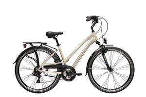 28 Zoll Trekkingrad Damen Adriatica Sity2 21 Gänge Aluminium Gold 45 cm Rahmengröße