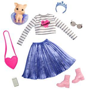 Barbie Prinzessinnen Abenteuer Puppen-Kleidung, Mode-Set mit Schweinchen