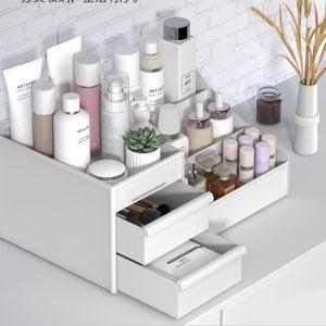Kosmetik Make up Organizer Schreib-Tisch Schmink mit 2 Schubladen Aufbewahrung Schmuck Box