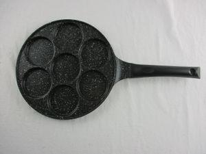 ORION Augenpfanne für 7 Eier Crepepfanne für Gas Induktion Ø 27 cm GRANIT