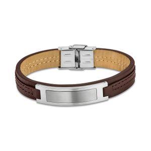 Lotus Style Armband Herren LS1808-2/1 Leder silber braun Schmuck D2JLS1808-2-1