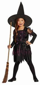 Kinder Kostüm Spider Witch Hexe Karneval Fasching Halloween Gr.116