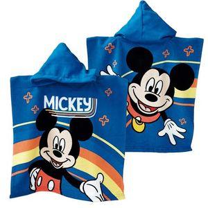 Badeponcho Micky Maus Regenbogen Kapuzenponcho Bademantel Handtuch Strandtuch Badetuch Mikrofaser Mickey Mouse