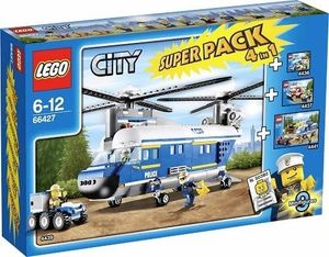 Lego City 66427 4In1 Super Pack 4439+4436+4437+4441 Mit 9 Figuren Und Zubehör