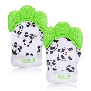 2 PCS Baby Teething Mitten Glove Baby Beißhandschuhe-Knisternder Handschuh für Babys-Age 2-12 Months- BPA free Silicon-Babys Handschuh Stimulierendes Beißring-Spielzeug für Jungen und Mädchen