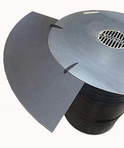Anstecktisch 1/4 aus Metall für 100cm 6mm Feuerplatte #25