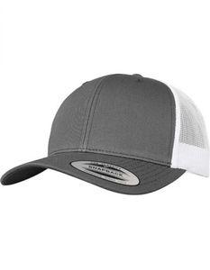 Retro Trucker 2-Tone Cap / Kappe / Mütze / Hut - Farbe: Dark Grey/White - Größe: One Size