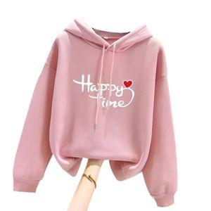 Damen casual Hoodie Shirt Sweatshirt,Farbe: Pink,Größe:M