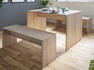 """Tischgruppe Essgruppe Sitzgruppe Tischset Esszimmermöbel (3-teilig) """"Bellevue I"""" Sonoma-Eiche"""