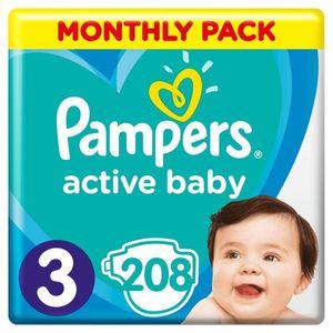 PAMPERS Windel Active Baby 3 Midi 208 Stück