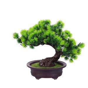 Künstliche Pflanzendekor Simulation Kiefer Topf Ornament Kunststoffpflanze Bonsai