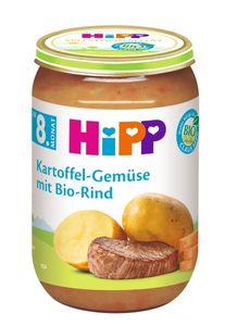 HiPP Menüs ab 8.Monat, Kartoffel-Gemüse mitRind, DE-ÖKO-037 - VE 220g