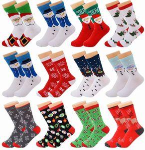 12 Paare Weihnachtssocken Kuschelsocken Weihnachten Socken Baumwolle Socken Uni Bunt Lustige Socken Bettsocken Damen Winter Warme Socken