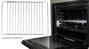 Ofengitter 33 bis 61 cm Ofen Gitter Gitterrost Backofenrost ausziehbar Backrost