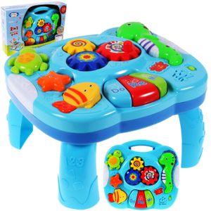 MalPlay Baby Spieltisch Musikspielzeug   Baby erstes Keyboard   Licht & Sound   mit Tiergeräusche   Babyspielzeug Lernspielzeug für Kinder ab 18 Monaten