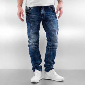 Cipo & Baxx Männer Straight Fit Jeans Alton in blau Cipo & Baxx