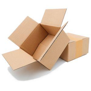 25 Faltkartons 150 x 150 x 80 mm Versandkartons aus Wellpappe 1 wellige Kartonverpackungen KK 05