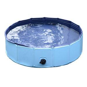 PawHut Hundebadewanne Hundepool Badewanne Swimmingpool Wasserbecken für Hunde 120 x 30 cm