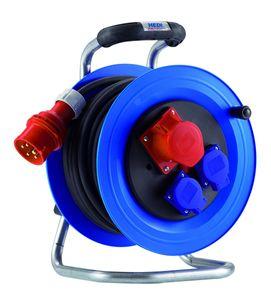 HEDI K2YD0016T Kunststoff-Kabeltrommel Professional 400V 16A leer, blau