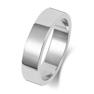 Platin 950 5mm Flach Form Herren/Damen - Trauring/Ehering/Hochzeitsring, 68 (21.6); WJS2460PT950