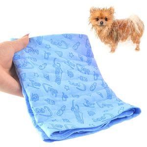 Super saugfähiges Haustierhandtuch, Mikrofaser Hund Badetuch  66 * 43 * 0,2 cm,blau