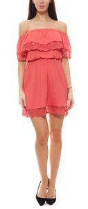 s.Oliver Strandkleid niedliches Damen Jersey-Kleid mit Carmen-Ausschnitt Midi-Kleid Rot, Größe:36