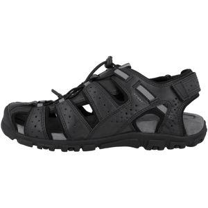 GEOX Herren Sandalen Schwarz Schuhe, Größe:45