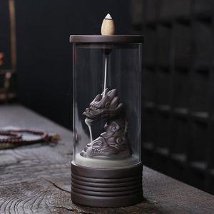 Drachen Ornament Wasserfallbrenner Geschenkboxen Style1 Rückfluss-Weihrauchbrenner wie beschrieben
