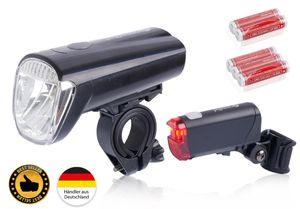 Fahrradbeleuchtung-Set-LED StVZO  Fahrradlicht-Set Farbe:Schwarz-40Lux Größe: