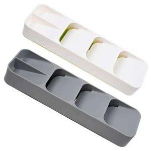 2x Schublade Organizer Fach Löffel Besteck Trennung Aufbewahrungsbox Küchenbedarf