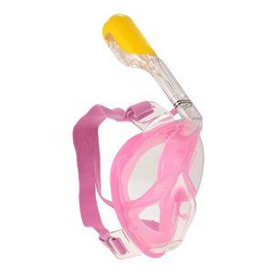 Schnorchelmaske ROSA, Vollmaske, Tauchmaske für Kinder