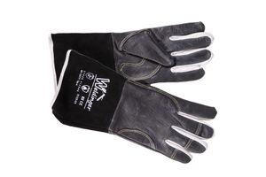 WIGpro Gr.L/10 Schweißerhandschuhe Rindnarbenleder schwarz mit Rindspaltleder-Stulpe
