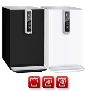 Auftisch-Tafelwasseranlage BLACK & WHITE HOT DIAMOND Option CO2 Eigentumsflasche - 6kg CO2 Flasche Farbe - weiß