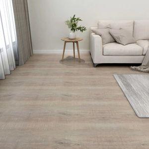 PVC-Fliesen Selbstklebend 55 Stk. Laminat Dielen Bodenbelag | für Wohnzimmer Schlafzimmer Büro 5,11 m² Taupe - 47496