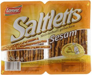 Lorenz Saltlettes Sticks Sesam knuprige Salzstangen Laugenbäck 175g