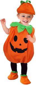 Baby Kürbis Kostüm Kinder Halloween Karneval Fasching Kostüme mit Hut Cosplay L Körpergröße 90cm