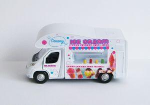 EISWAGEN Ice Cream Modellauto Eismann Spielzeugauto Auto Wohnwagen Welly 85