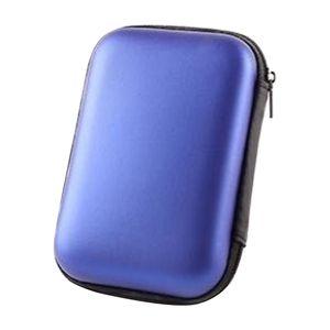 1x HDD-Tasche Blau HDD-Tragetasche 143,9 x 102,8 x 43,7 mm Hard Drive Disk Hard Case Tasche