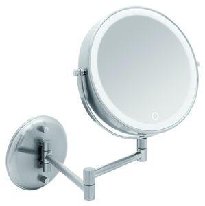 Libaro LED Kosmetikspiegel VENEZIA Vergrößerungsspiegel 10fach Wandmontage Akku USB Kabel Weiß Warm Tageslicht Dimmer