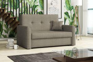Mirjan24 Schlafsofa Viva Bis II mit Bettkasten und Schlaffunktion, 2-Sitzer Couch vom Hersteller, Wohnzimmer Polstersofa (Spirit 3)